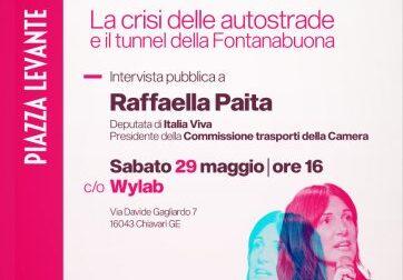 Wylab, Incontri con i protagonisti: Raffaella Paita su autostrade e tunnel Fontanabuona
