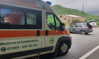 Incidente a San Colombano, due feriti al pronto soccorso