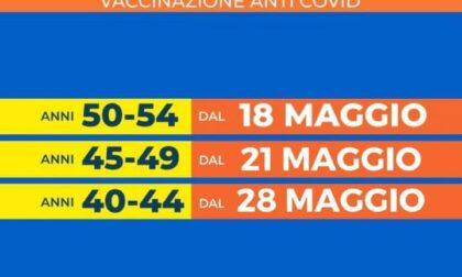 Vaccinazioni, aperte per le persone fra i 50 e i 54 anni