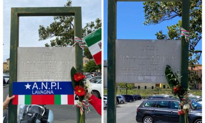 Oltraggio a Taviani: strappati dalla targa i fiori e le bandiere dell'Anpi