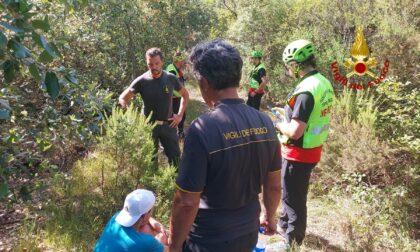 I Vigili del Fuoco soccorrono un escursionista nei pressi di Moneglia