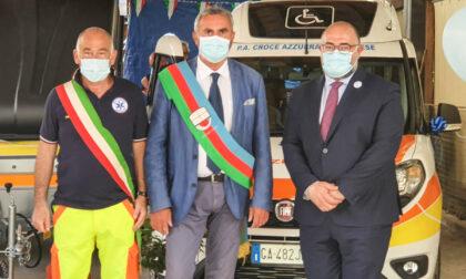 Moneglia, inaugurati la nuova sede di Protezione Civile e due mezzi della Croce Azzurra