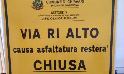 Inizia l'asfaltatura di via Ri Alto, modifiche alla viabilità da domani