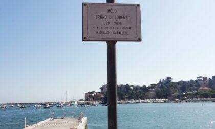 La targa alla memoria di Bruno di Lorenzi ormai sbiadita