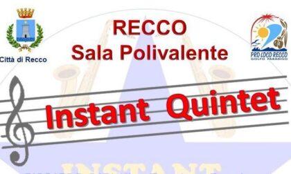 """Recco - """"Instant Quintet"""" in concerto nella Sala Polivalente"""