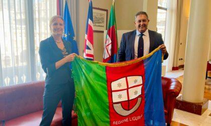 Presidente Toti incontra il vice capo missione del Regno Unito in Italia Sanders