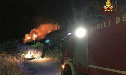 """""""Incendio di Bargonasco partito da una baracca e limitato a 4 ettari di vegetazione"""" - VIDEO"""