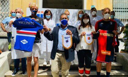 Seconda dose vaccino per Genoa e Sampdoria, il saluto di Toti