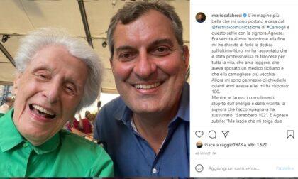 """Calabresi: """"L'immagine più bella che mi porto a casa del Festival è questa signora di Camogli"""""""