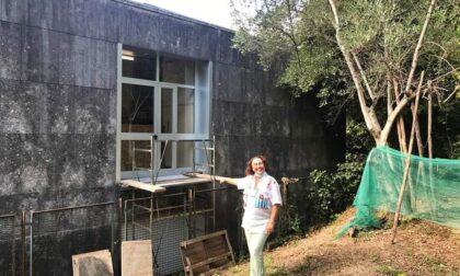 Una rampa d'accesso nel giardino della scuola Vera Vassalle di Cavi