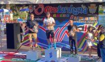 Podio VvFontanabuona alla prima tappa del  Giro della Sardegna