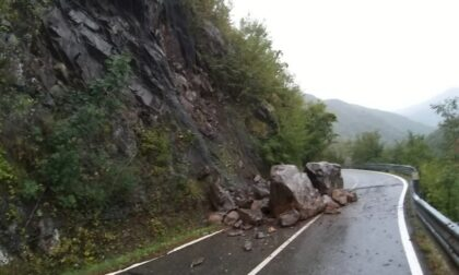 Caduta massi, chiuso un tratto della strada Provinciale 586R di Val d'Aveto