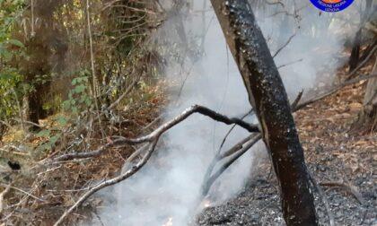 Incendio a Ruta provocato da un fulmine, la pioggia limita i danni