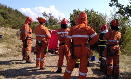 Esercitazione antincendio sulle alture di Recco