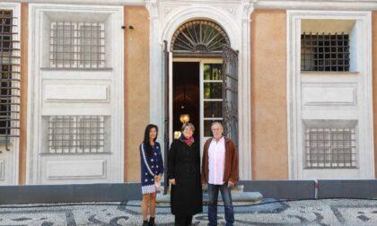In visita a Chiavari il pronipote di Giuseppe Rocca